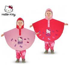 Hk811 Poncho Impermeabile Per Bambine Di Con Cappuccio Da 2 A 6 Anni - Rosa 6 Anni