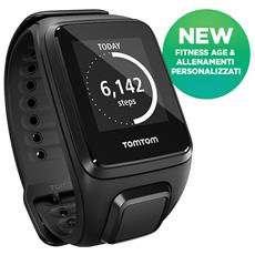 Spark Music Large impermeabile GPS 3GB Bluetooth Multisport - Nero
