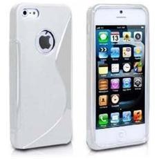 Cover Custodia Sline Silicone Tpu - Bianco - Apple Iphone 5 E 5s