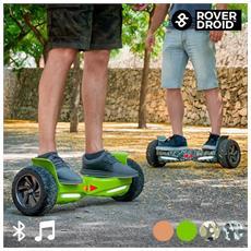 Skate Hoverboard Elettrico Bluetooth Con Altoparlanti Rover Droid Stor 190 Colore Verde Pistacchio