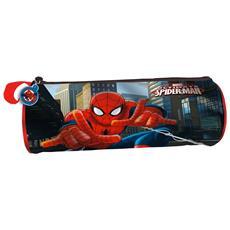 Astuccio Tombolino Portapastelli Spiderman Uomo Ragno 22 Cm Scuola