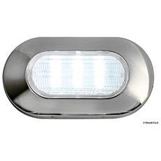 Luce di Cortesia Ovale 6 LED Blu