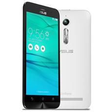 "Zenfone Go (ZB500KL) Bianco 16 GB 4G/LTE Dual Sim Display 5"" HD Slot Micro SD Fotocamera 13 Mpx Android Italia"