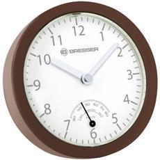 mini orologio da bagno marrone