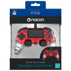 NACON Controller Wired Rosso Luminoso PS4