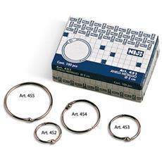 04c9eced6f NIJI - Scatola 100 Anelli In Metallo 28mm X Rilegatura