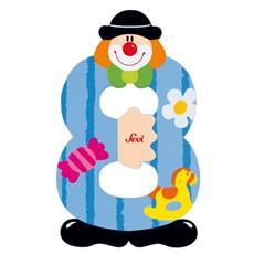 Peluche Numero 8 Clown 9 cm 82218
