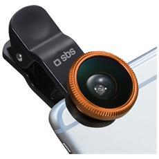 Kit lenti universali per smartphone a clip (Fish Eye, Macro, Wide angle) - SBS