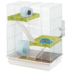 Gabbia Per Criceti Hamster Tris Bianca