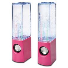 Water Beats, 2.0, 2-vie, 6W, Cablato, 3,5 mm, Rosa