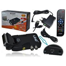 Decoder Digitale Terrestre Linq Mod. Tv-g300 Dvb-t Mini Scart Tv + Usb