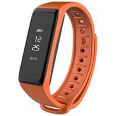 Activity Tracker ZeFit 2 Resitente all'Acqua IP67 Display OLED 4GB Bluetooth per Fitness con Contapassi Arancione - Europa