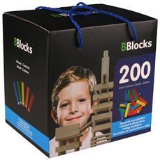 Costruzioni In Legno Multicolore 200 Pz Bblo890102