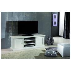 Mobile Cassapanca Porta Tv Laccato Bianco