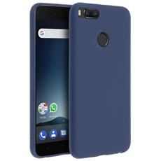 Cover Xiaomi Mi A1 Soft Touch Silicone Gel Morbido - Blu