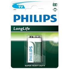 Batterie ottimali per dispositivi a basso consumo. Zinco-Carbone da 9 V.