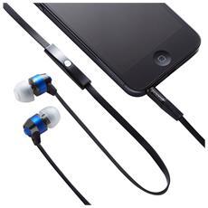 """GV-EB10-BE, Stereofonico, Interno orecchio, Blu, Cablato, 3.5 mm (1/8"""") , Intraurale"""