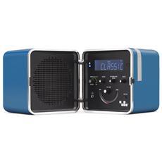 Radio Cubo TS522D+ Radio Dab / Dab+ Bluetooth Banda L FM Funzione RDS Radiosveglia Telecomando Blu