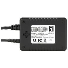 POS-1002, Nero, IEEE 802.3, IEEE 802.3u, IEEE 802.3af, 10BaseT / 100BaseTX, 5/9/12V, 5,5 cm, 8 cm