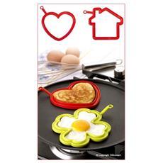 2 forma uovo casa + cuore pratika silicone