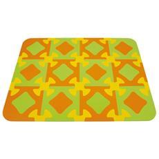 Tappeto Gioco, Arancione / verde / giallo 103.5 X 138 Cm