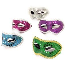set di 5 maschere 'carnaval de venise' (scintillio) - [ k8288]
