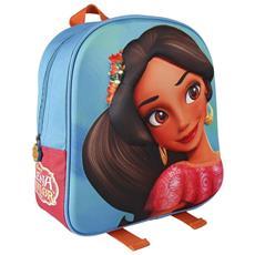 Zainetto Disney Elena Di Avalor Stampa Rilievo 3d Bambine Scuola Asilo Materna
