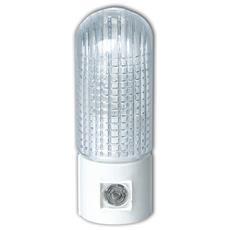 Lampada Da Notte E14 A Led Arrotondata Per Presa Di Corrente 4w Luce Fredda 6400k Con Sensore