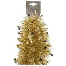 Frangia Decorativa per Albero di Natale Colore Oro da 100 mm x 2.7 m