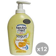 Set 12 Sapone Liquido Miele-vaniglia 300 Ml. Saponi E Cosmetici