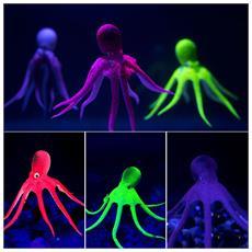 Decorazione Ornamento Acquario Polpo Cefalopodi Octopus Incandescente Al Buoio Artificiale Colore Casuale