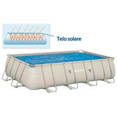 Telo superiore solare per piscina con isolamento termico 549x274 cm