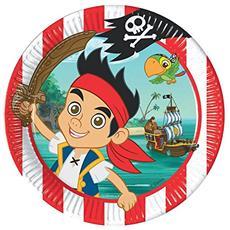 Jake E I Pirati Dell'Isola Che Non C'E' - 8 Piatti 23 Cm