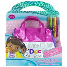 Kit colora la tua borsetta Dottor Peluche by Disney con 5 pennarelli