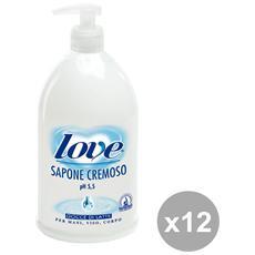 Set 12 Sapone Liquido Latte 1 Lt. Saponi E Cosmetici