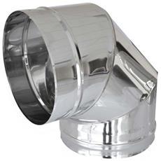 Curva In Acciaio A 90 Gradi Per Canne Fumarie Diametro 100 Mm
