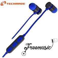 TM-FRMUSIC-DB Techmade Auricolari Bluetooth Dark Blu