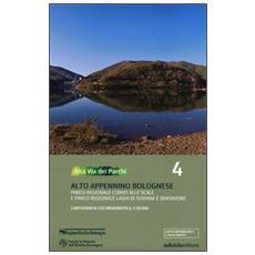 Alta via dei parchi 1:50.000. Vol. 4: Alto Appennino bolognese. Parco regionale Corno alle Scale e parco regionale laghi di Suviana e Brasimone.