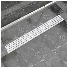 Canaletta Di Drenaggio Per Doccia Lineare 930x140 Mm Acciaio Inox