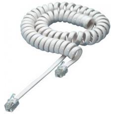 ICOC MD-44-02SWP Cavo telefonico spiralato 4P4C 2 metri Colore Bianco