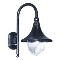 Lanterna per esterno a braccio a parete colore nero cm 47