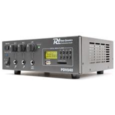 Amplificatore Line 100v Professionale Ibrido 12v Filodiffusione Art. 952046