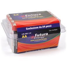 24 Pezzi Batterie Alcaline Lr6 Aa