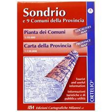 Sondrio e 9 comuni della provincia. Pianta delle città 1:10.000. Carta della provincia 1:120.000