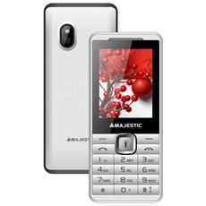 "Lucky 46 Bianco Display 2.4"" +Slot MicroSD Gsm Bluetooth Fotocamera 1.3 Mpx Radio e Torcia"
