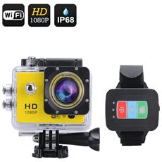 Q3 Full HD 1080P Action Camera (Giallo)