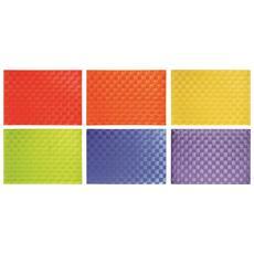 Set 6 tovagliette intrecci multicolor.
