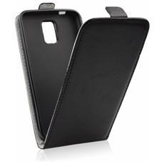 Cover Slim Flexy Kabura Flip Per Huawei P9 Lite Chiusura A Portafogli Nero
