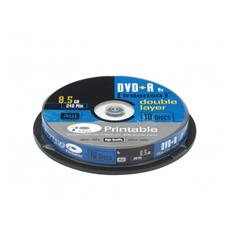 1x10 DVD+R 8.5GB 8x Double Layer printable, DVD+R, Scatola per torte