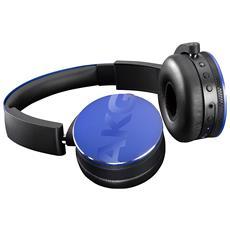 Cuffie Bluetooth con Microfono Cablato Y50BTBLU Colore Blu